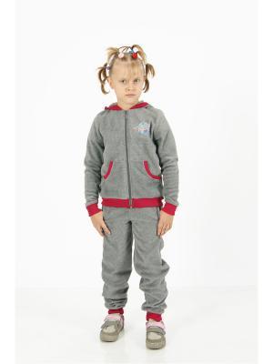 Спортивный костюм CROSS sport. Цвет: серый, фуксия