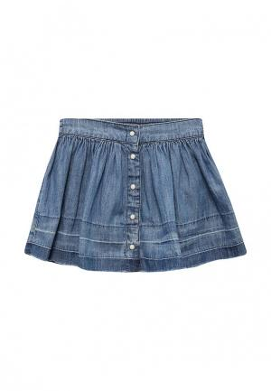Юбка джинсовая Gap. Цвет: голубой