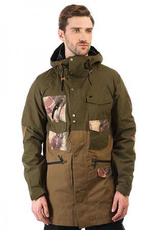 Куртка  Ag Solitary Jk Keef/Soil Analog. Цвет: зеленый
