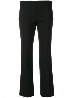 Укороченные расклешенные брюки Incotex. Цвет: чёрный
