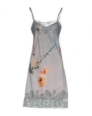 Короткое платье TRUST TOILETTE. Цвет: грифельно-синий