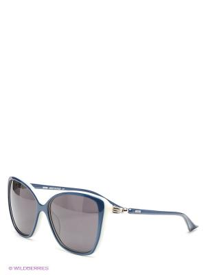 Солнцезащитные очки MOSCHINO. Цвет: синий