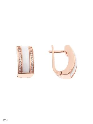 Серьги FRESH Jewelry. Цвет: золотистый