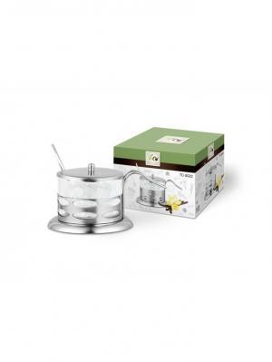 Сахарница TECO 022S-TC-1. Цвет: серебристый, прозрачный