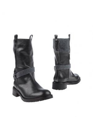 Полусапоги и высокие ботинки LORENA ANTONIAZZI. Цвет: свинцово-серый