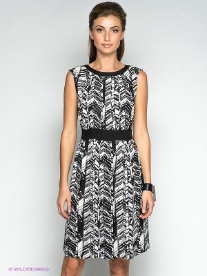 Платье QUIOSQUE. Цвет: черный, белый
