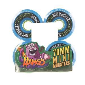 Колеса для скейтборда лонгборда  Pre-Packaged Mini Monster Hawgs Blue 78A 70 mm Landyachtz. Цвет: синий