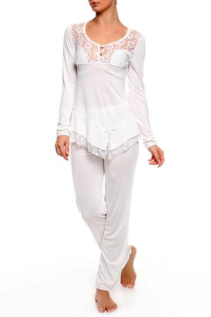 Пижама BON-AR. Цвет: белый