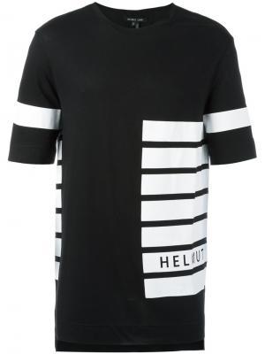 Футболка в полоску Helmut Lang. Цвет: чёрный