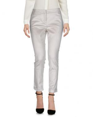 Повседневные брюки MANILA GRACE. Цвет: светло-серый