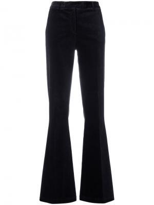 Расклешенные брюки Ql2. Цвет: синий
