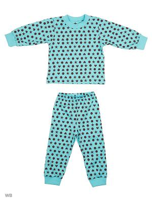 Пижама Ассорти Лео. Цвет: бирюзовый