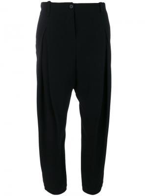 Укороченные брюки с завышенной талией Masnada. Цвет: чёрный