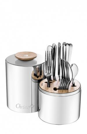 Набор столовых приборов Origine из 24 предметов Christofle. Цвет: серебряный
