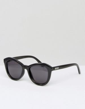 Le Specs Круглые солнцезащитные очки. Цвет: черный