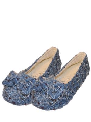 Носки-тапочки HOBBY LINE. Цвет: синий