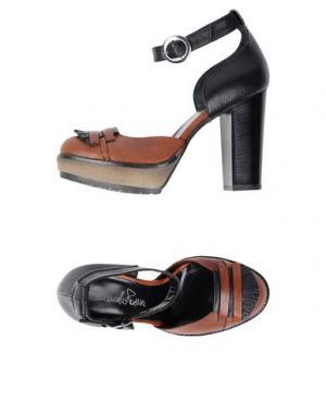 Туфли EMANUELA PASSERI. Цвет: коричневый