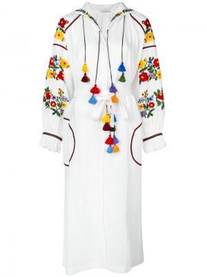 Длинное платье с вышивкой Vita Kin. Цвет: белый