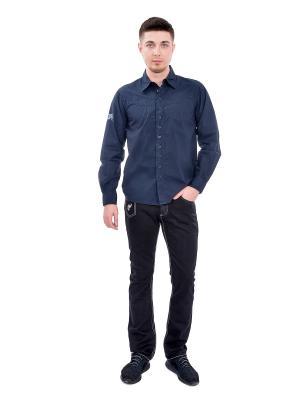 Рубашка мужская VON DUTCH. Цвет: синий
