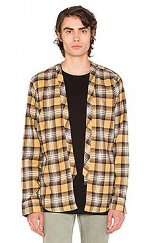 Рубашка без застёжки 424. Цвет: желтый