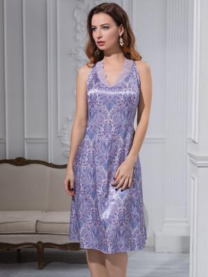 Ночная сорочка MIA-MELLA. Цвет: сиреневый