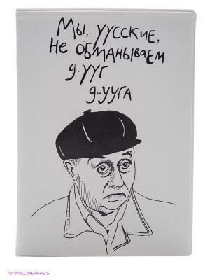 Обложка для паспорта Мы, русские... Kawaii Factory. Цвет: белый
