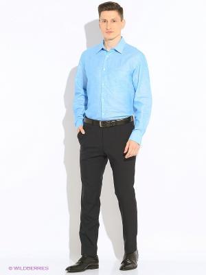 Рубашка KARFLORENS. Цвет: голубой, оливковый