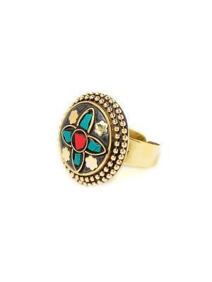Кольцо Бронзовые звезды MZ0292 Indira. Цвет: золотистый