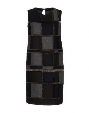 Короткое платье MAURIZIO PECORARO. Цвет: темно-коричневый