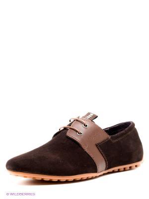 Ботинки Basic Editions. Цвет: темно-коричневый