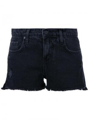 Джинсовые шорты Split Nobody Denim. Цвет: чёрный