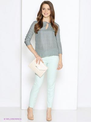 Блуза DEVORE. Цвет: синий, кремовый