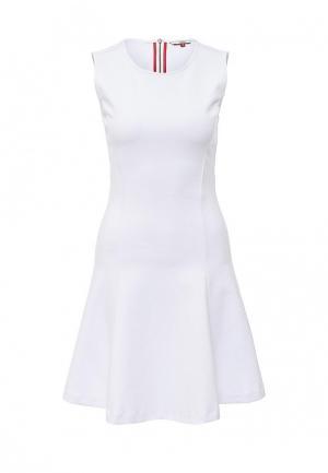 Платье Tommy Hilfiger Denim. Цвет: белый