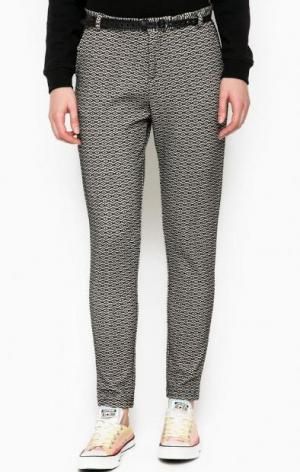Зауженные брюки с ремнем Maison Scotch. Цвет: серый
