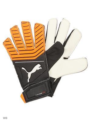 Вратарские перчатки One Grip 17.4 PUMA. Цвет: черный, белый, коралловый