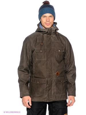 Куртка Burton. Цвет: коричневый