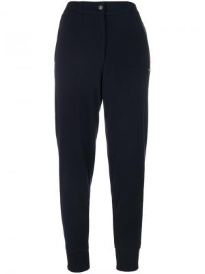 Спортивные брюки с высокой талией Jo No Fui. Цвет: синий