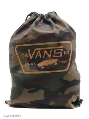 Сумка-мешок VANS. Цвет: зеленый