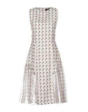 Платье до колена THAKOON. Цвет: белый