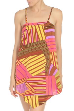 Пляжное платье на бретелях Nicole Olivier. Цвет: мультиколор(921)