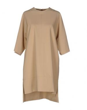 Короткое платье TROU AUX BICHES. Цвет: бежевый