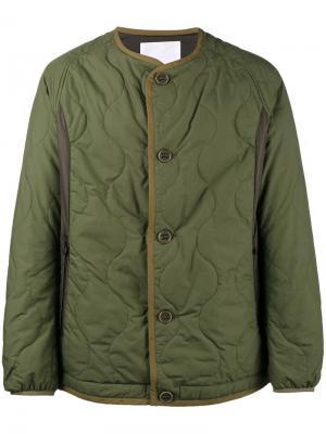 Стеганая куртка Primaloft White Mountaineering. Цвет: зелёный