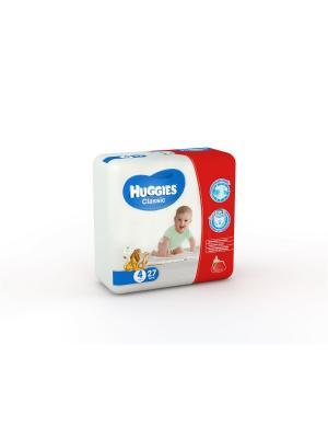 Подгузники CLASSIC Размер 4 7-18кг 27шт HUGGIES. Цвет: белый, красный