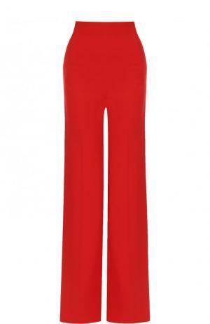 Однотонные расклешенные брюки со стрелками Roland Mouret. Цвет: красный
