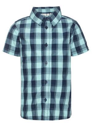 Рубашка NAME IT. Цвет: морская волна, темно-синий