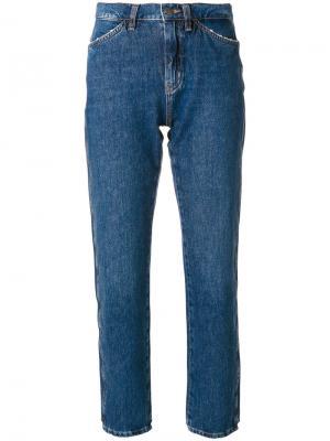 Укороченные джинсы Cult Mih Jeans. Цвет: синий