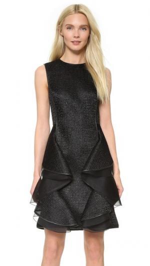 Платье без рукавов Interlock с имитацией рафии Jason Wu. Цвет: голубой