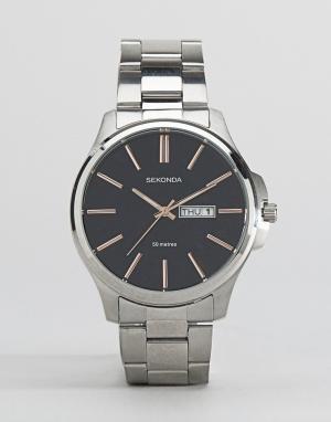 Sekonda Серебристые часы-браслет. Цвет: серебряный