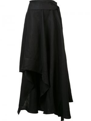 Асимметричная юбка макси Barbara I Gongini. Цвет: none