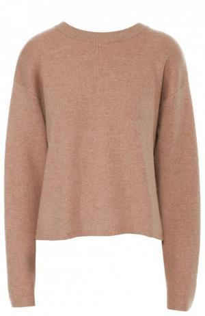 Кашемировый пуловер свободного кроя с круглым вырезом Proenza Schouler. Цвет: бежевый